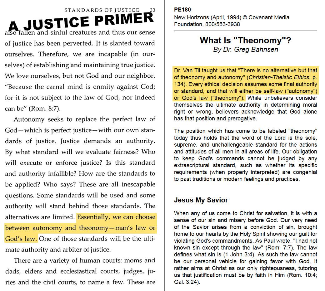 A Justice Primer page 33 — Bahnsen