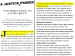"A Justice Primer page 43— ""jurisdiction"""